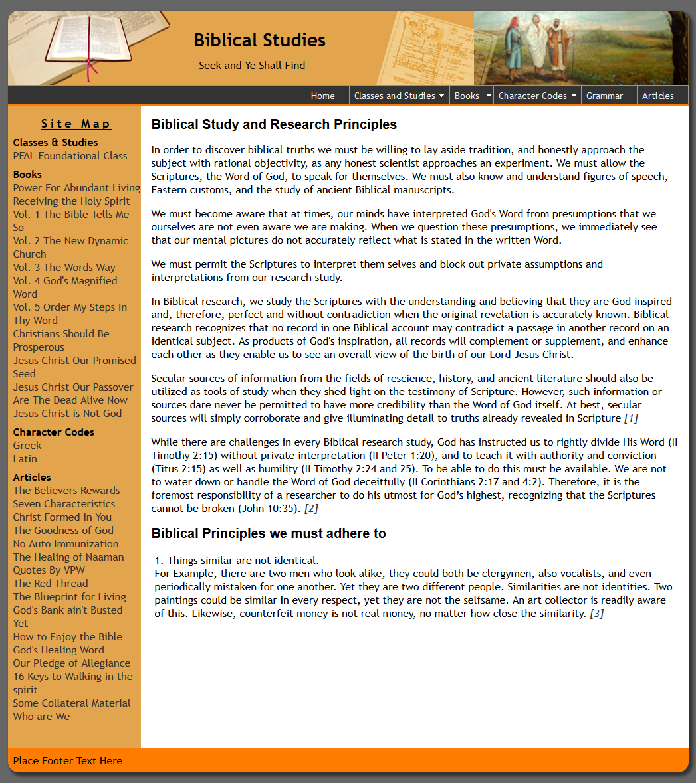 Biblicial Studies | Paul Costa